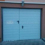 Široké pretlačenie vodorovné, biela+integrované dvere