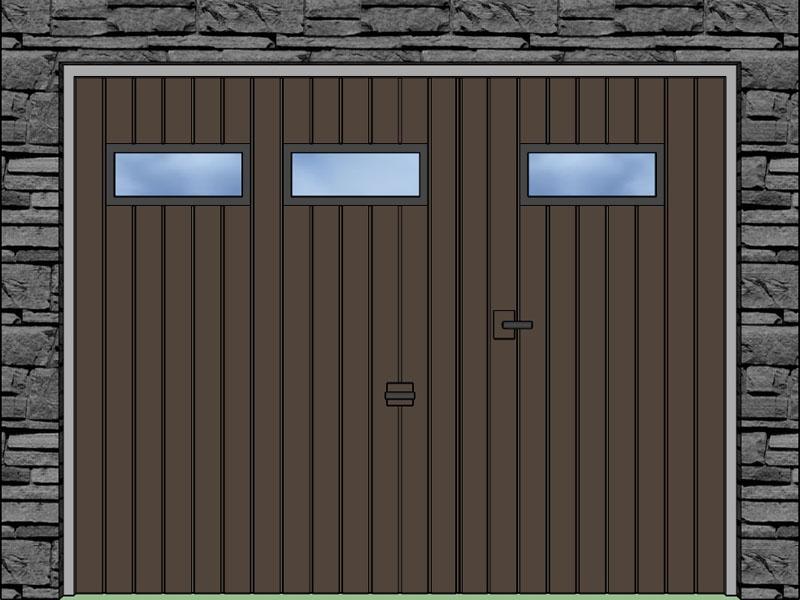 Prechodové integrované dvere; Integrované okienka