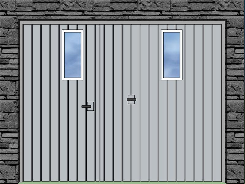 Integrované prechodové dvere; Integrované okienka