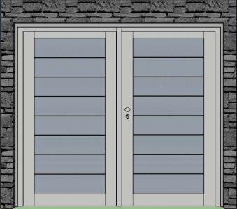 Dvojkrídlové prevedenie panel s prelisom