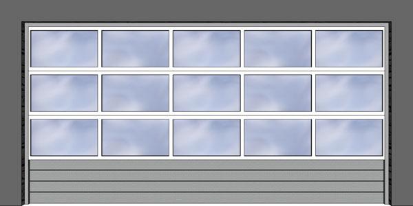 Hliníkový okenný profil s prepážkami